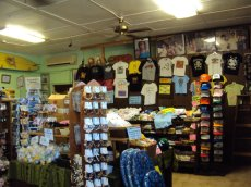 Inside you can purchase all kinds of souvenirs